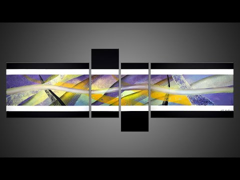 ABSTRACT PAINTING DEMO WITH ACRYLIC AND MASKING TAPE | Synapses