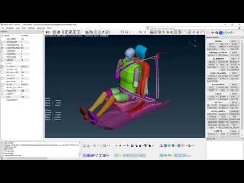Loadcase manager for crash simulation