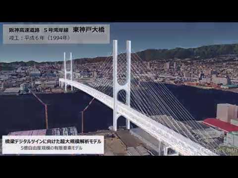 【東芝】コンピュータ上に再現した橋梁で車両荷重影響を評価する超大規模解析技術