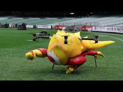 Ben 10's HEATBLAST Flying inside the MCG