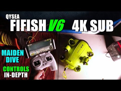 QySea FIFISH V6 Underwater 4k Robot Maiden Dive Test - In-Depth - NEW STANDARD in 360 MOVEMENT + VR - UCVQWy-DTLpRqnuA17WZkjRQ
