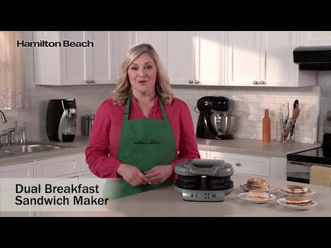 Hamilton Beach Dual Breakfast Sandwich Maker 25490