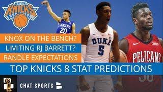 8 Knicks Stat Predictions Including RJ Barrett, Julius Randle & Elfrid Payton vs. Dennis Smith Jr.