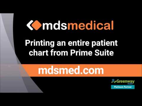 Printing an entire chart in Greenway Prime Suite EHR