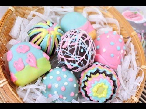 ไข่อีสเตอร์ Easter Egg - เค้กป๊อปรูปไข่อีสเตอร์ - foodtraveltvchannel
