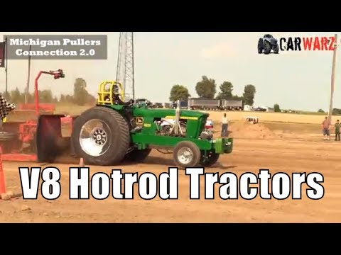 V8 Hotrod Tractor Class From TTPA Tractor Pulls In Corunna Michigan 2018