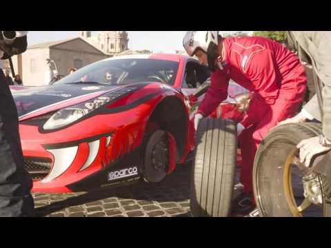 Pitstop per aiutare Amatrice a bordo della Ferrari 458 Italia