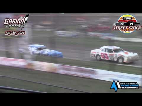 Casino Speedway Steffes WISSOTA Street Stock Tour A-Main (7/25/21) - dirt track racing video image