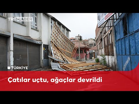 Kırıkkale'de fırtına etkili oldu