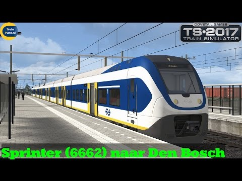 [Leonhearth] Sprinter (6662) naar Den Bosch | Zuid West Nederland V1.8 | Train Simulator 2017