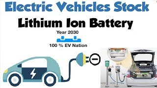 Breaking News - Electric Vehicle Stocks || Lithium Ion Battery Company