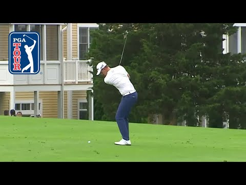 Andrew Putnam's hole-out eagle at Travelers 2019