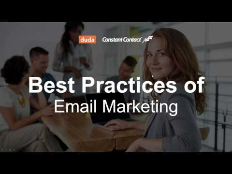 Best Practices for Email Marketing - Duda and Constant Contact Webinar