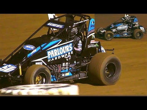 Wingless Sprints Final Front Row Challenge Wingless Sprints 16-2-2019 - dirt track racing video image