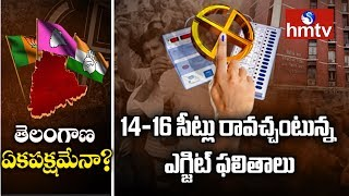 టీఆర్ఎస్కే పట్టం కట్టిన ఎగ్జిట్ పోల్స్ | TRS to win big in Telangana | hmtv