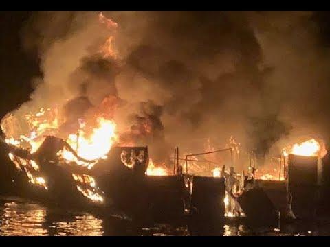 Breaking: Santa Barbara Boat Fire 34 Dead Captain Jerry Boylan Survives