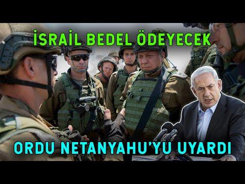 İsrail Ordusu Çatırdıyor! Generaller Rest Çekti!