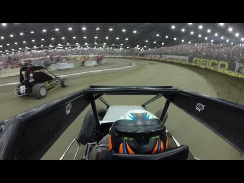 Andrew Felker OnBoard | 2017 Chili Bowl Prelim A-Main | January 11th, 2017 - dirt track racing video image