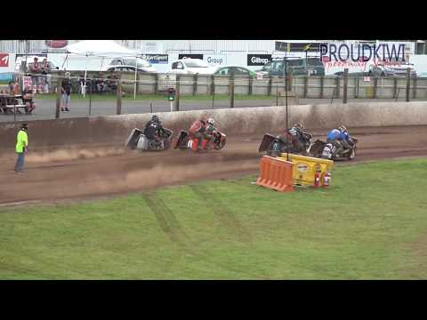 The final of the Sidecar Summer Cup from the meeting at Rosebank Speedway on Sunday 17 November 2019 - dirt track racing video image