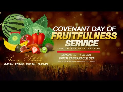 DOMI STREAM: COVENANT DAY OF FRUITFULNESS SERVICE  14, FEB. 2021  FAITH TABERNACLE OTA