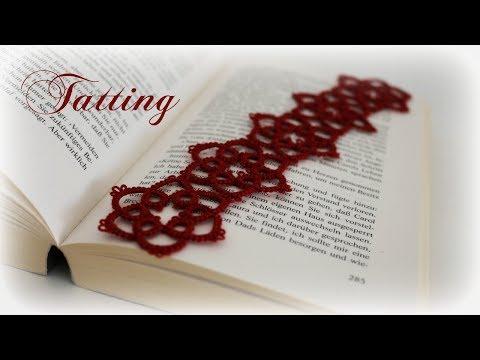 Tatting Lesezeichen * DIY * Tatting Bookmark [eng sub]