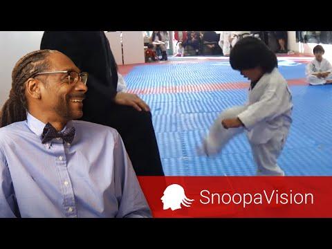 Little Boy Trying to Break Board in Taekwondo in SnoopaVision