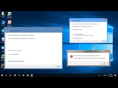 How to Fix .Net Framework 3.5 Errors in Windows 10