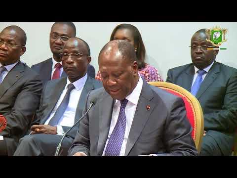 Rencontre avec le Corps préfectoral à Yamoussoukro, le jeudi 12 avril 2018.