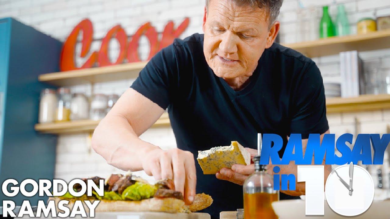 The Perfect Steak Sandwich Recipe in Just 10 Minutes   Gordon Ramsay