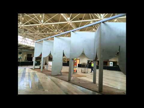 Kolonnad, en förverkligad idé om ett betongcafé