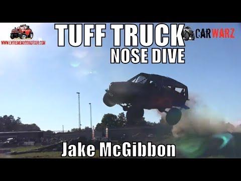 Jake McGibbon FREESTYLE NOSE DIVE CRASH At Class Minto Tuff Truck Challenge 2018
