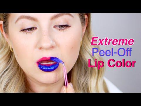 Testing EXTREME PEEL-OFF Lipstick!