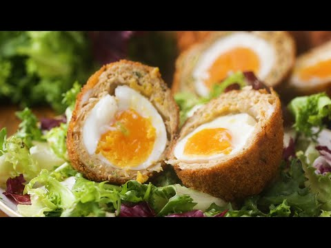 Chicken Masala-Wrapped Soft-Boiled Eggs (Indian Scotch Egg)