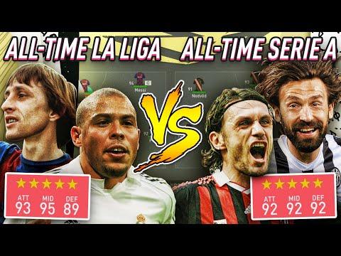 All Time La Liga Vs All Time Serie A - FIFA 20 Experiment