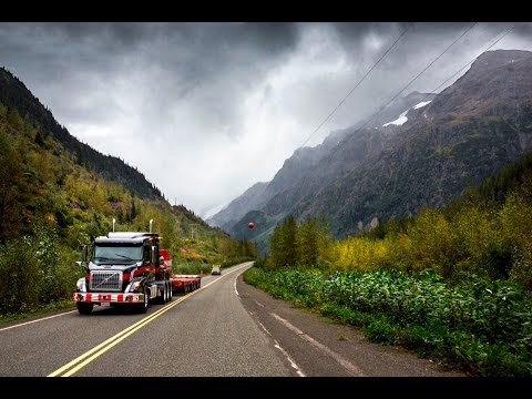 Volvo Trucks ? Running footage: A Volvo VNX 630 with oversized load in the Canadian wilderness