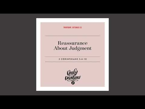 Reassurance About Judgment  Daily Devotional