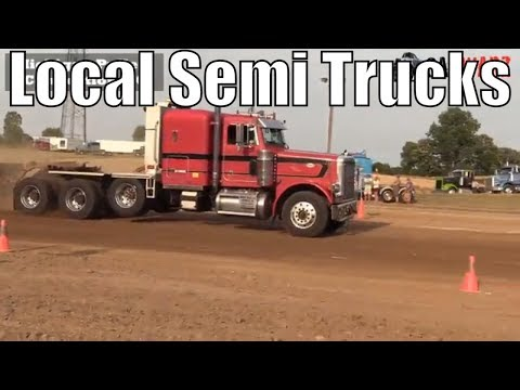 Local Semi Truck Class From TTPA Truck Pulls In Corunna Michigan 2018