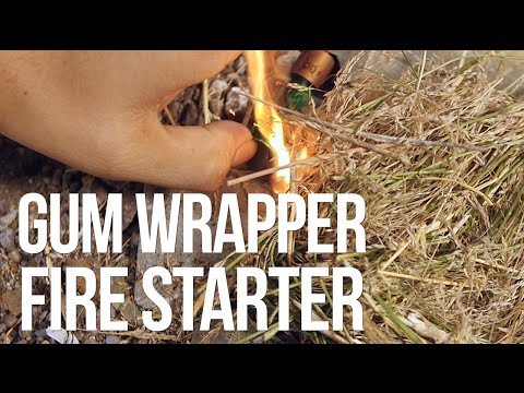 Learn How To Start A Fire With A Gum Wrapper And Battery