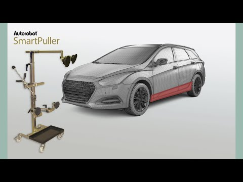 Autorobot SmartPuller - Dent pulling of box structures