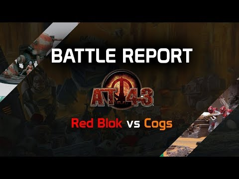 Battle Report Extended: AT-43 | Cogs vs Red Blok | Denis vs Steffbert | DICED