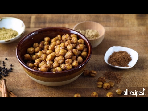 Snack Recipes - How to Make Indian Spiced Roasted Chickpeas