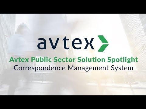 Avtex Public Sector Solution Spotlight – Correspondence Management System