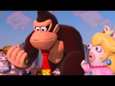Mario + Rabbids: Kingdom Battle - Donkey Kong Adventure - All Cutscenes - default