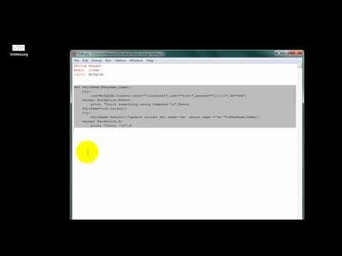 MySQLdb+Python 8