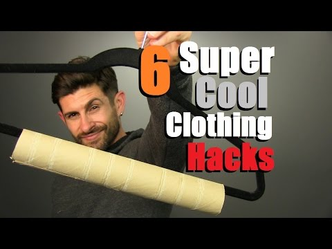 6 COOL Clothing Hacks EVERY Man Should Know! (Always Look FRESH)