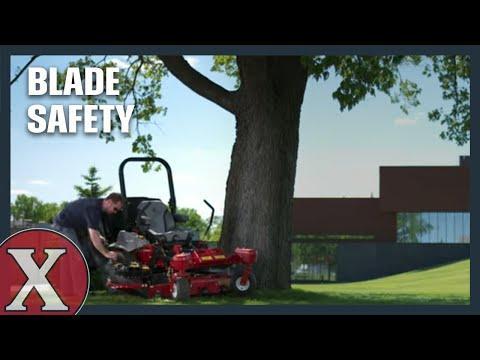 Stay Sharp Around Blades - Exmark Mower Safety