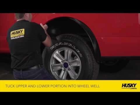 Husky Liners Rear Wheel Well Liners Installation