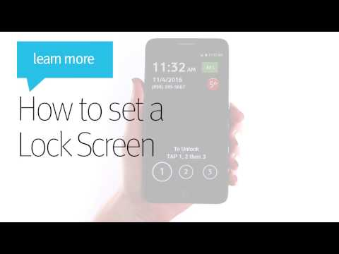 How to Set a Lock Screen - Jitterbug Smart
