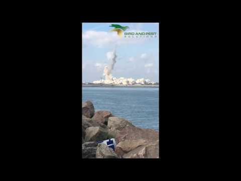 Isle of Grain Chimney Demolition - 7th September 2016