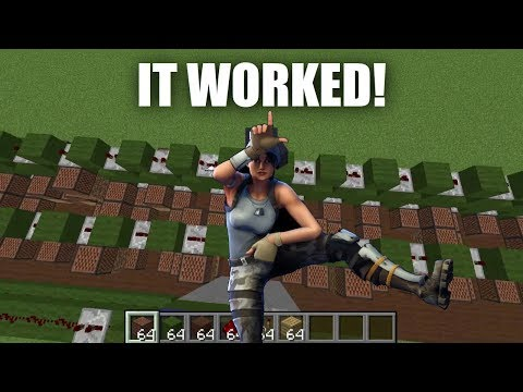 Fortnite Emote Songs Recreated Using Minecraft Note Blocks
